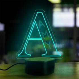 Lampe prénom personnalisée Alphabet lettre A