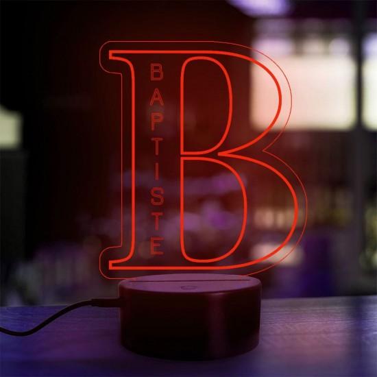 Lampe prénom personnalisée Alphabet lettre B