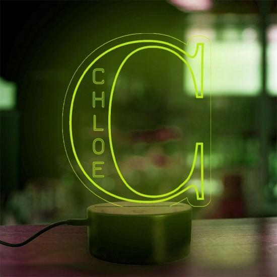 Lampe prénom personnalisée Alphabet lettre C