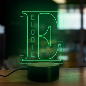 Lampe prénom personnalisée Alphabet lettre E