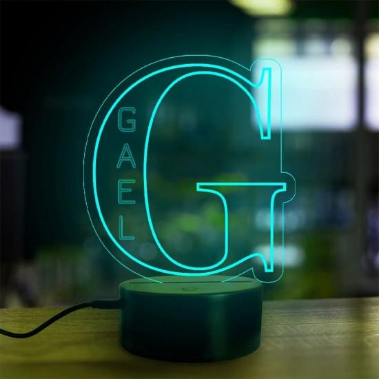 Lampe prénom personnalisée Alphabet lettre G