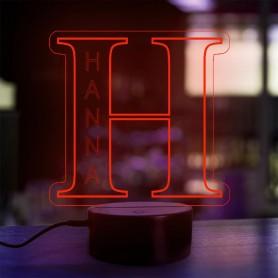 Lampe prénom personnalisée Alphabet lettre H