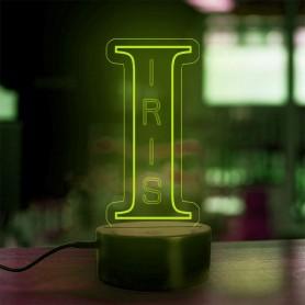 Lampe prénom personnalisée Alphabet lettre I