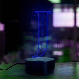 Lampe prénom personnalisée Alphabet lettre J