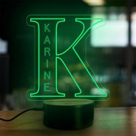 Lampe prénom personnalisée Alphabet lettre K