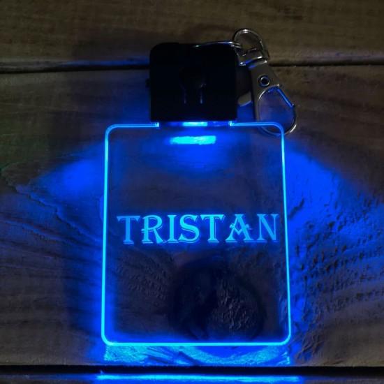 Porte-clé personnalisable PRENOM lumineux RGB rectangulaire