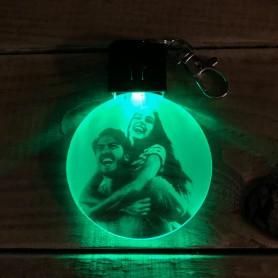 Porte-clé personnalisable PHOTO lumineux RGB rond