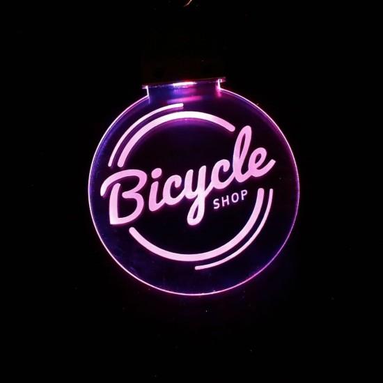 Porte-clé personnalisable LOGO lumineux RGB rond